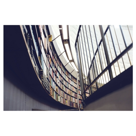 books in stairwell