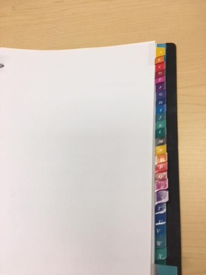 Teacher/Classroom Tabs for notes